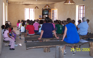 Students and Teachers from The Junior Primary School in Oudtshoorn in the Western Cape of South Africa.