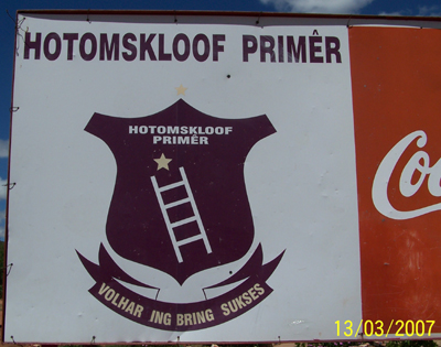 Hotomskloof Primary School in Oudtshoorn in the Western Cape of South Africa.
